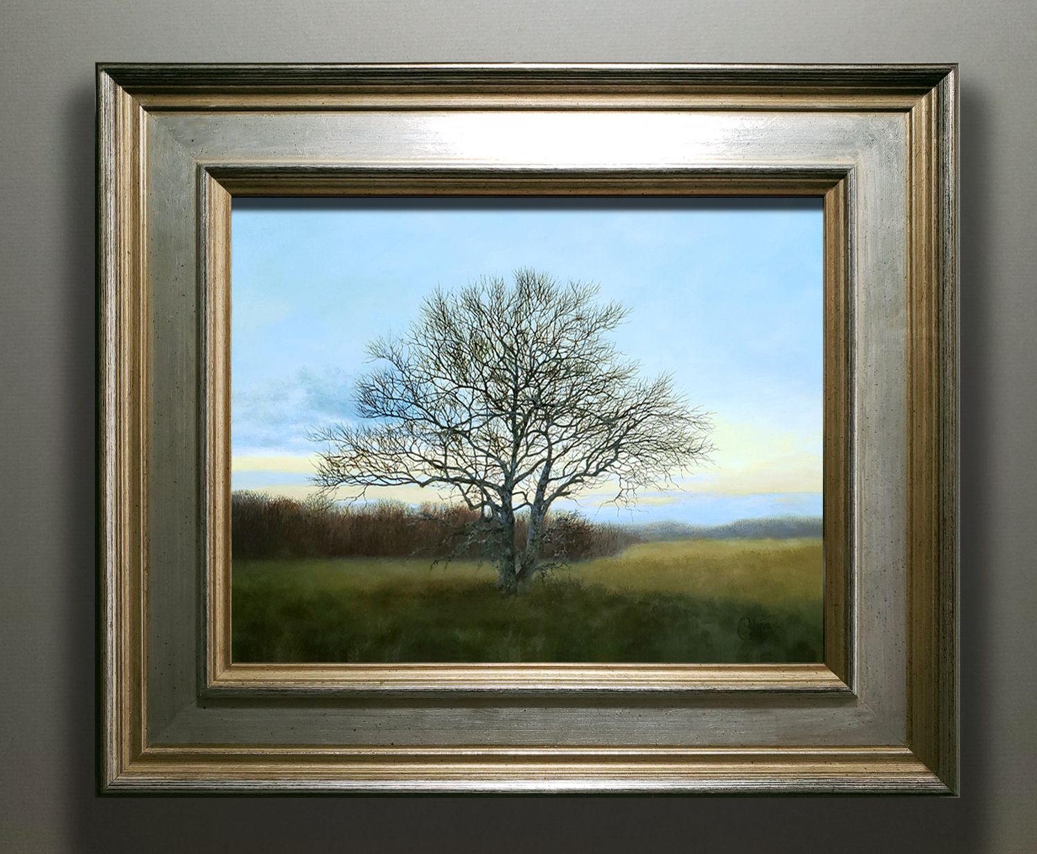 """""""MEADOW SENTRY"""" SILVER/GOLD FRAME"""