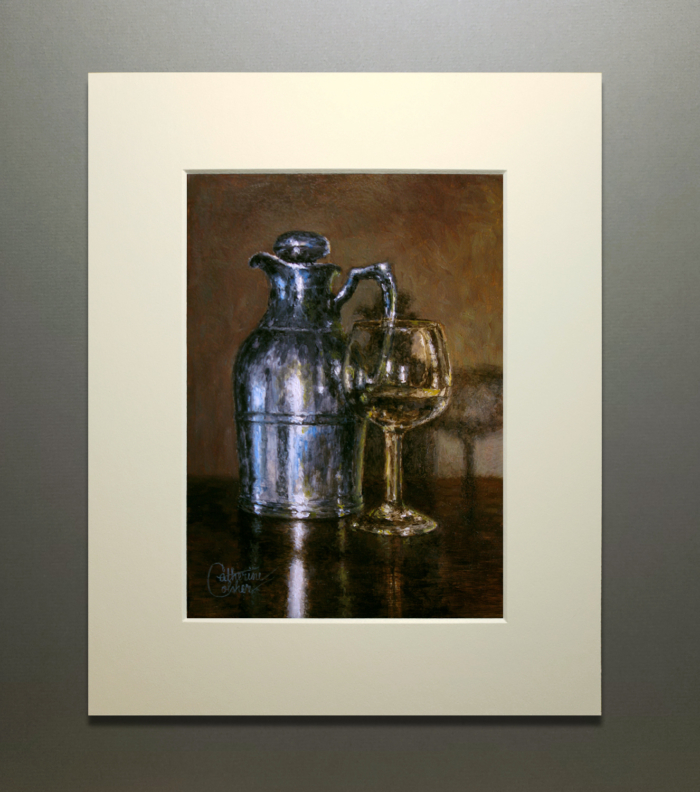 PITCHER AND GLASS MATTED