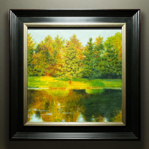 """AMBER EVENING"" FRAMED"