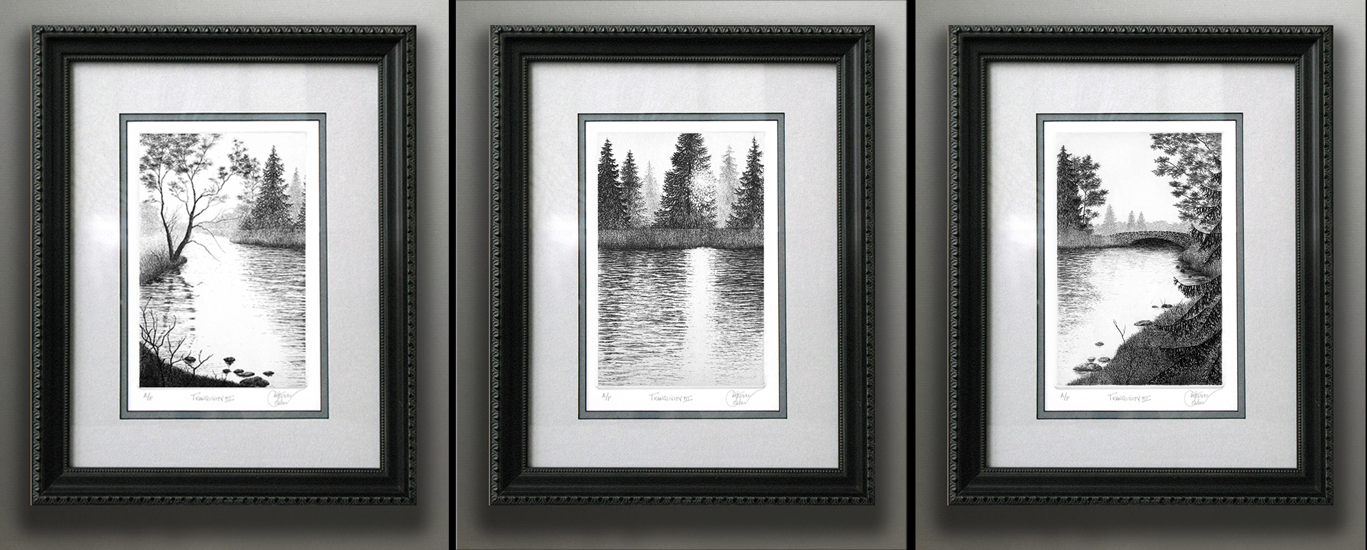 """TRANQUILITY SERIES"" FRAMED"