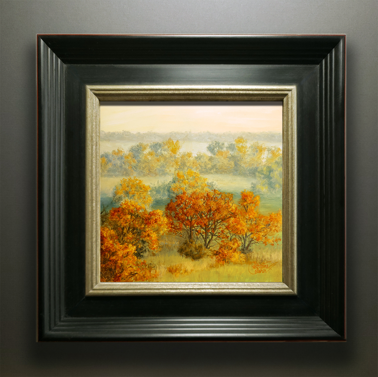 """AUTUMN FIELDS"" BLACK FRAME"
