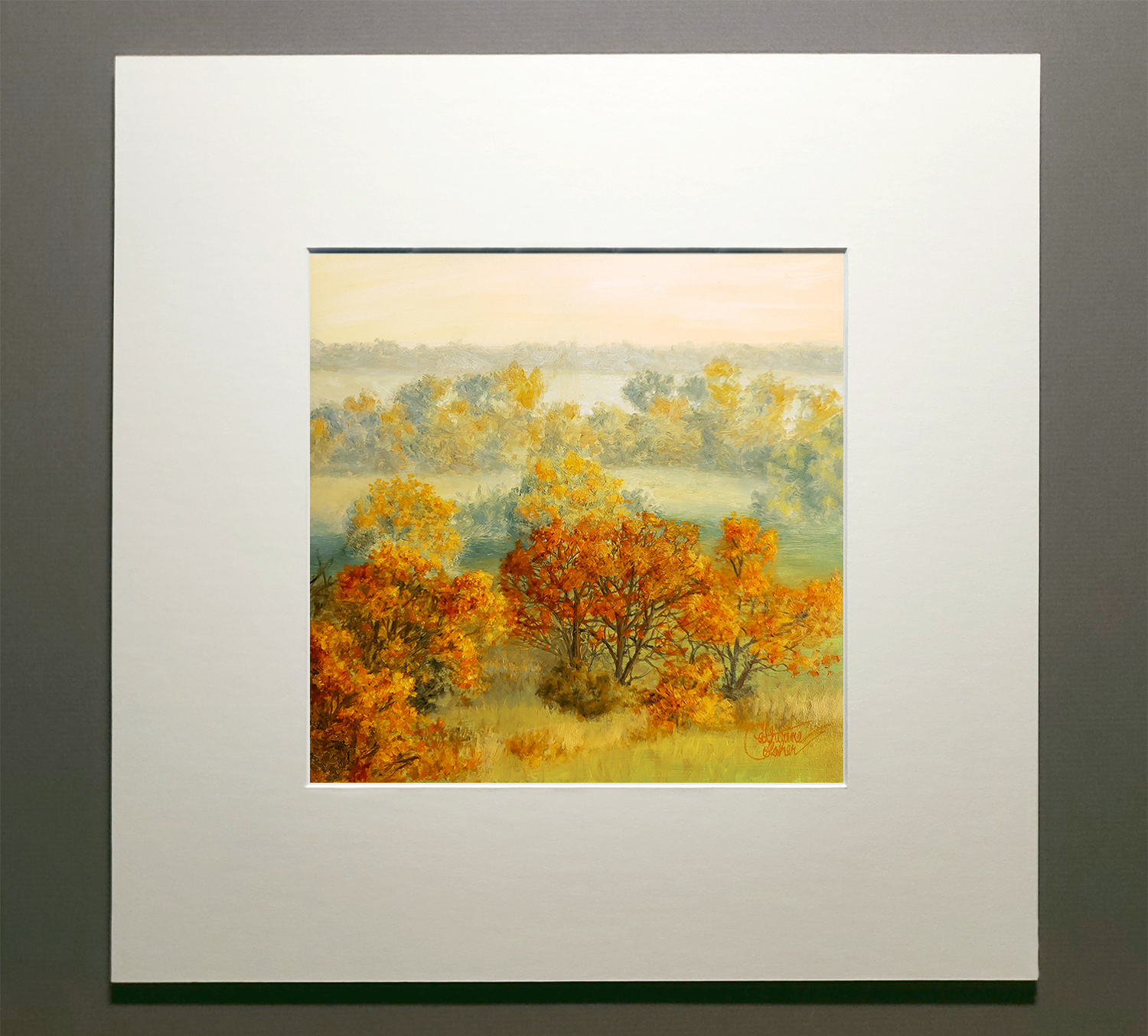 """AUTUMN FIELDS"" MATTED"