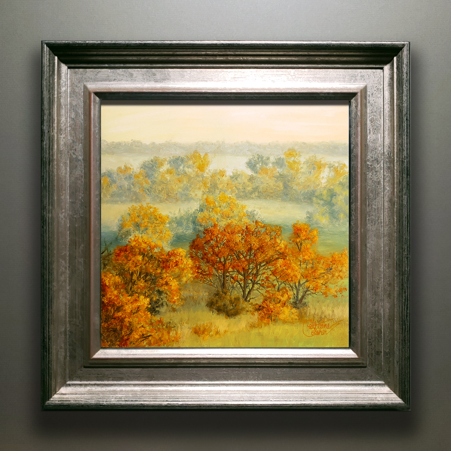 """AUTUMN FIELDS"" SILVER/GOLD FRAME"