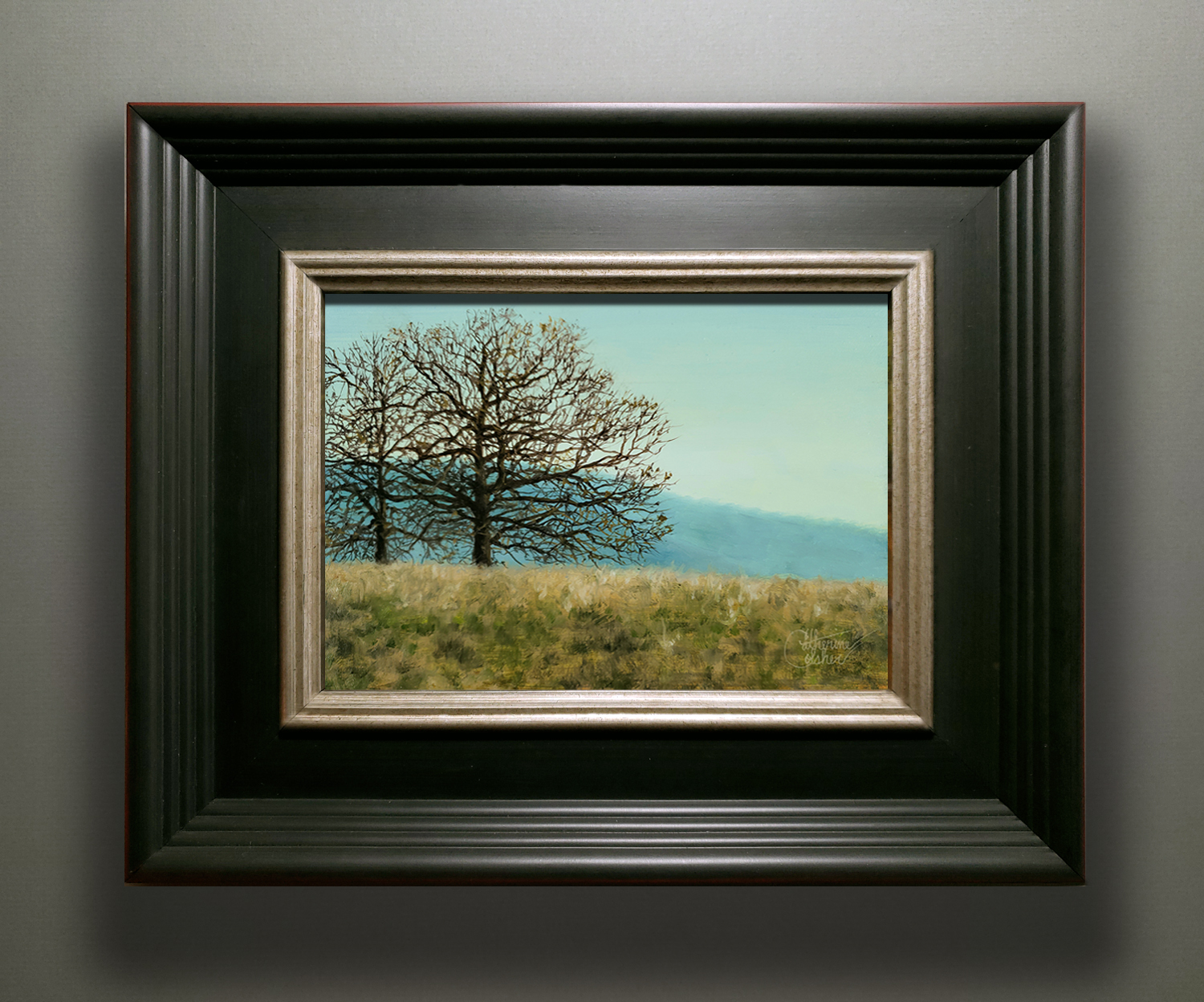 """OCTOBER REACHES"" BLACK FRAME"