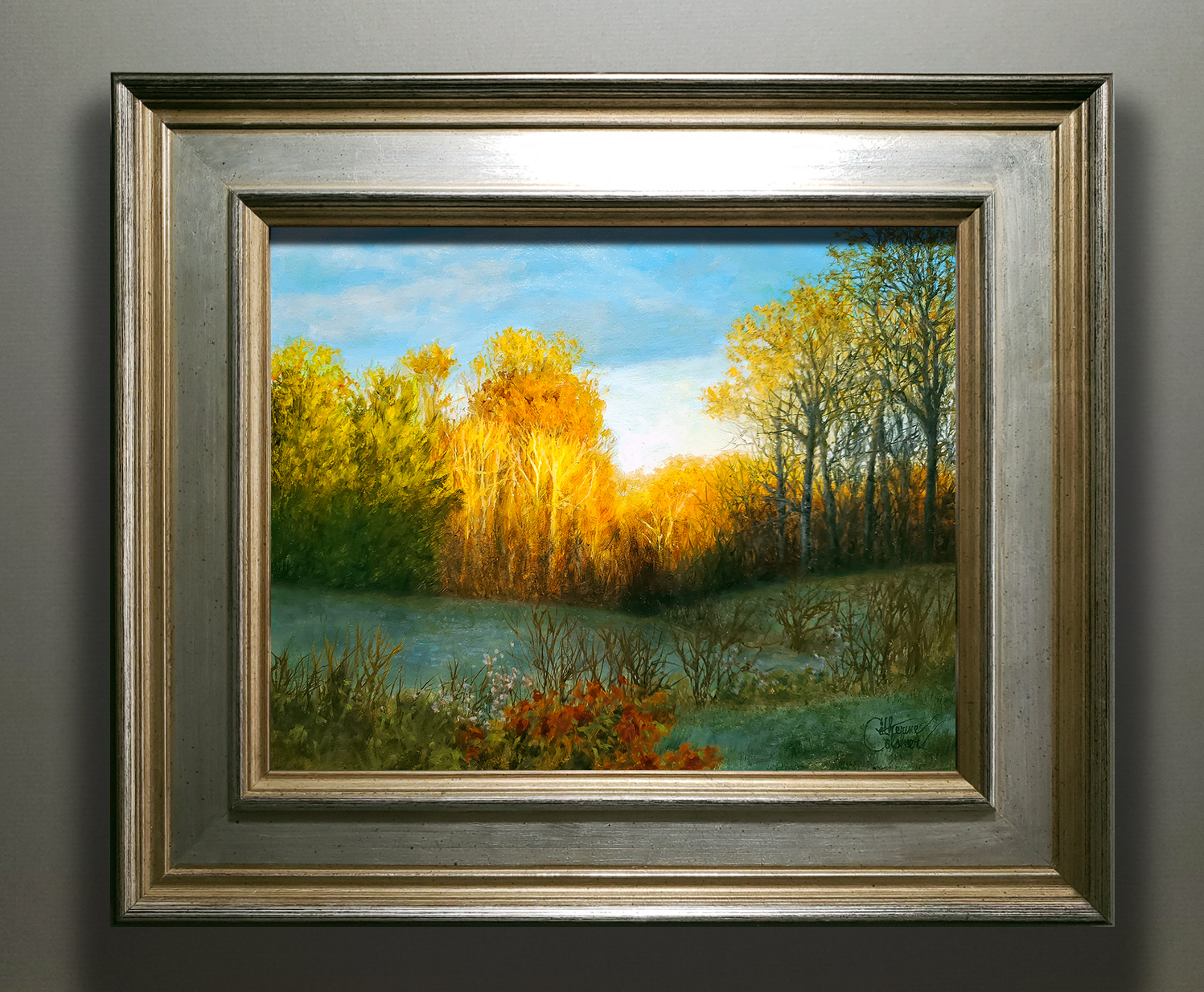 """""""THE GOLDEN HOURS"""" SILVER/GOLD FRAME"""
