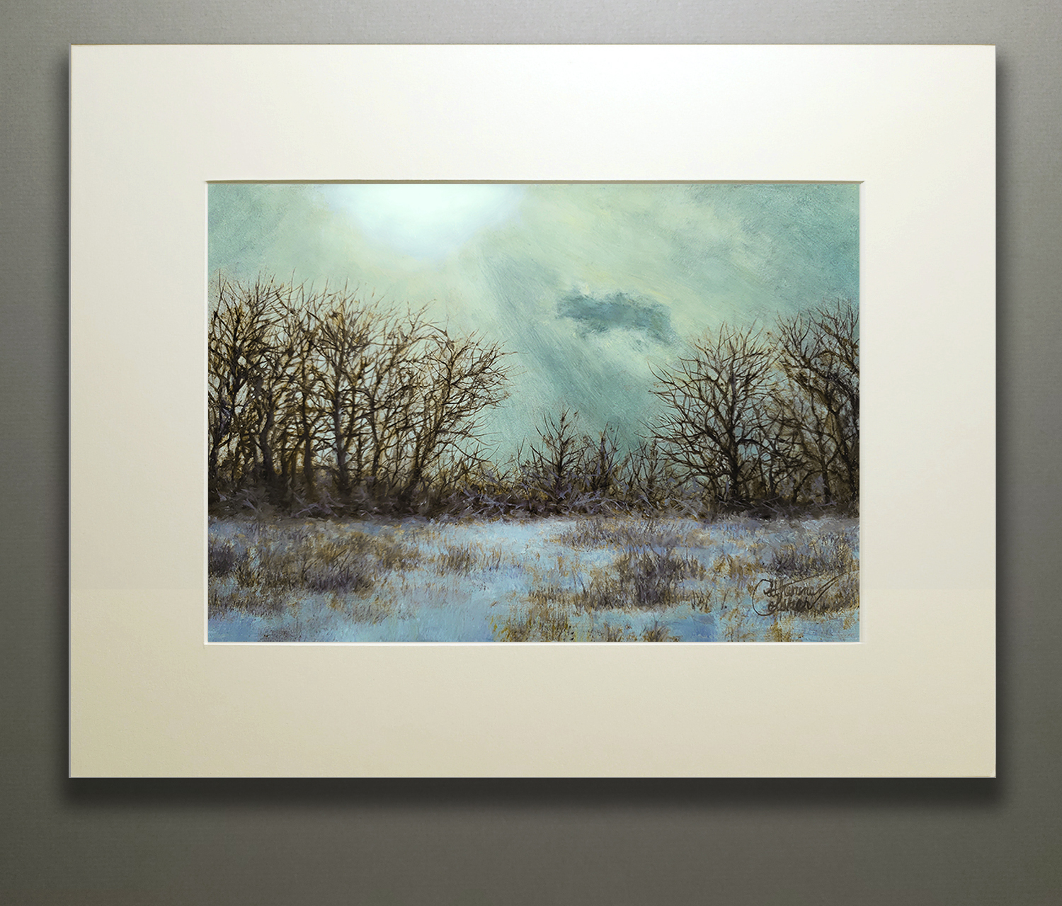 """WINTER RAYS"" MATTED"