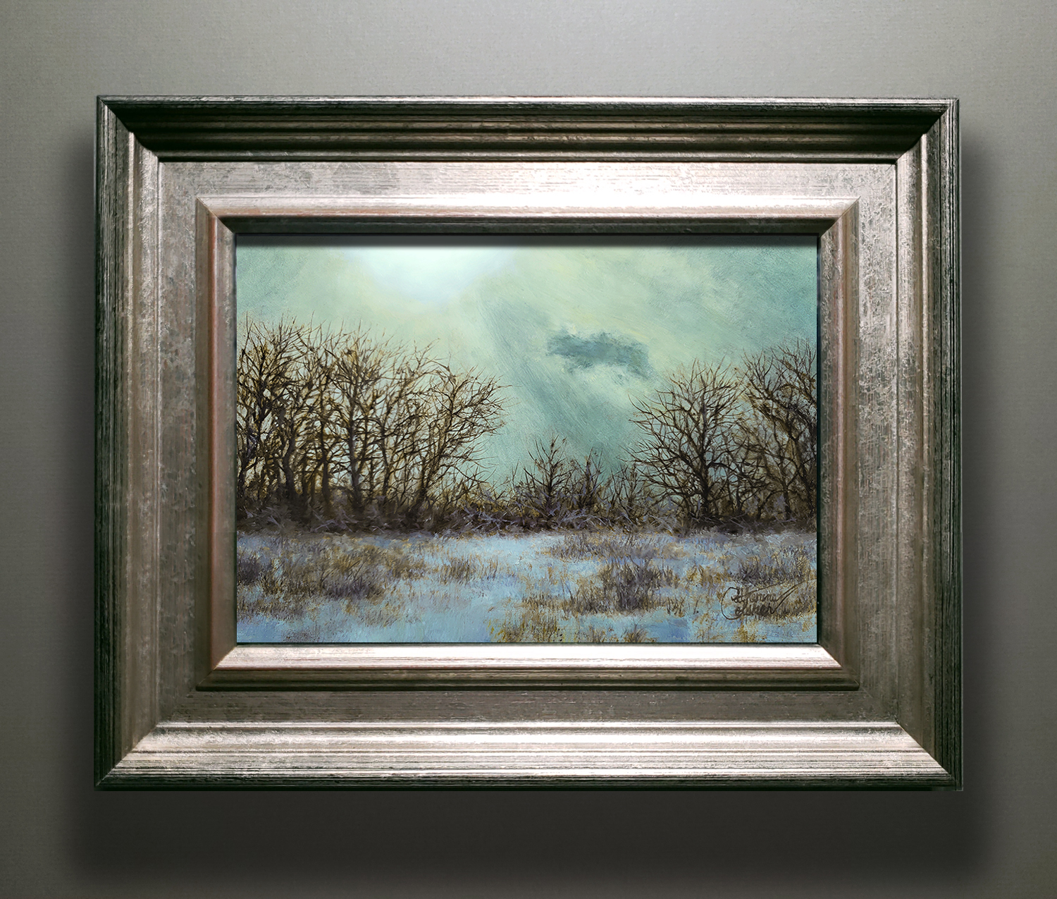 """WINTER RAYS"" SILVER/GOLD FRAME"